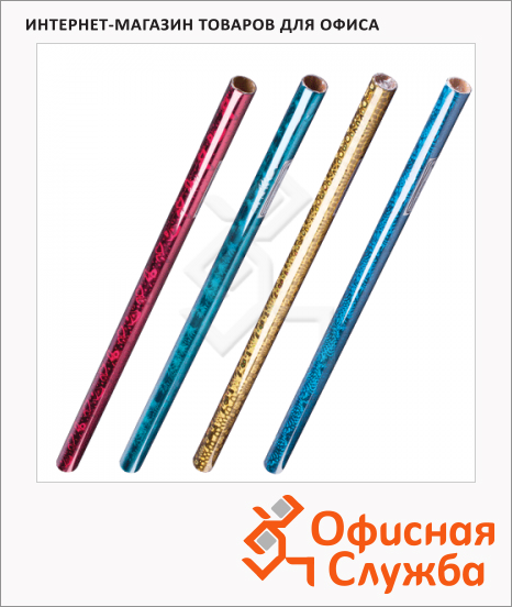 Пленка оберточная Grandgift 70х200см, голографическая, ассорти, 5037