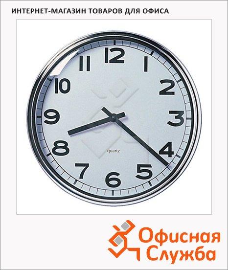 фото: Часы настенные Икеа Пугг бело-хромированные d=32см