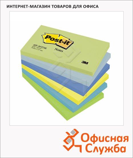 ���� ��� ������� � ������� ����� Post-It Classic �������� �������� ������, 76x127��, 6�100 ������, 6 ������, 655-MTDR