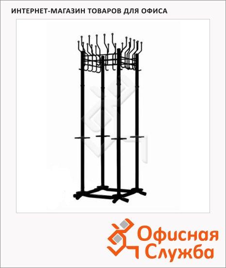 Вешалка-стойка напольная Гардикс-4, черная, 1870мм