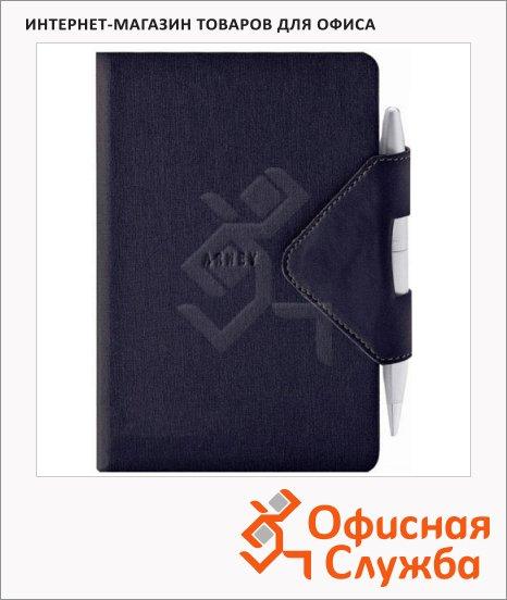 Блокнот Arwey Idea-box черный, А6, 104 листа, нелинованный, на сшивке, искусственная кожа, с магнитным клапаном и ручкой