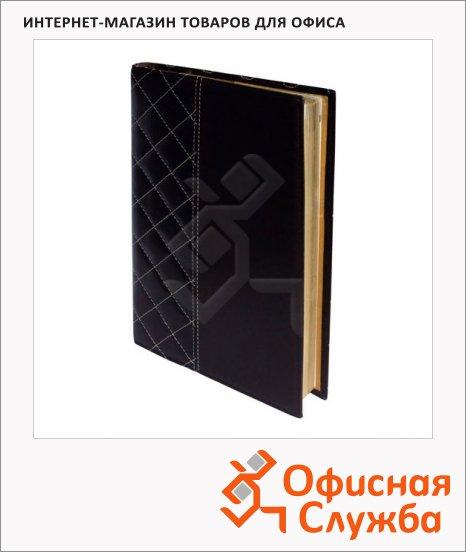 Ежедневник полудатированный Bon Carnet Elegante черный, А5, 176 листов