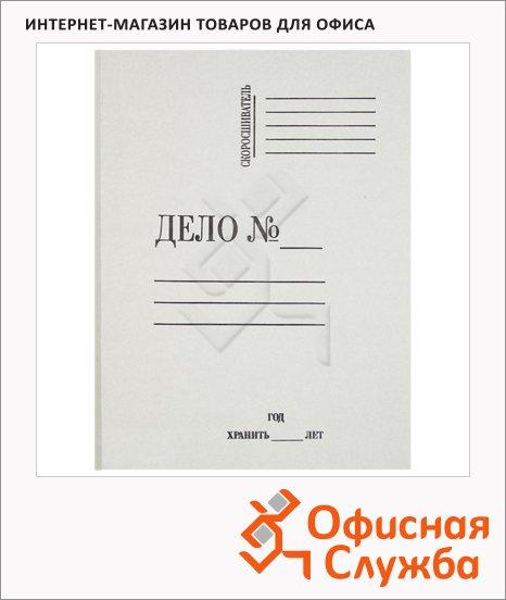 Папка-обложка картонная Дело белая, А4, без механизма, 280г/м2