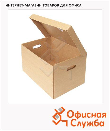 Архивный короб бежевый, 480х325х295мм