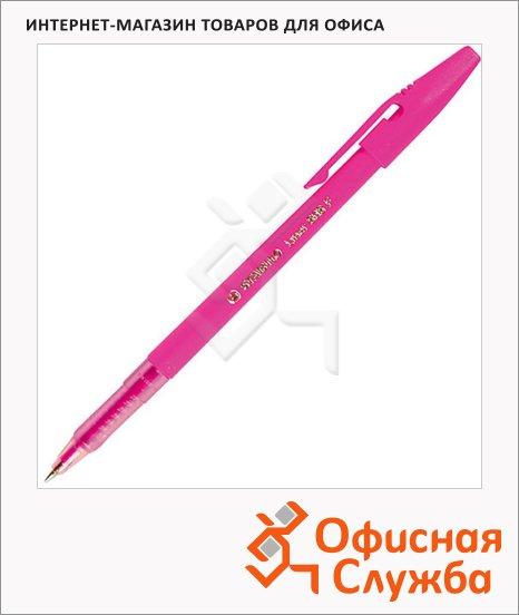 фото: Ручка шариковая Stabilo Liner 808 розовая 0.3мм