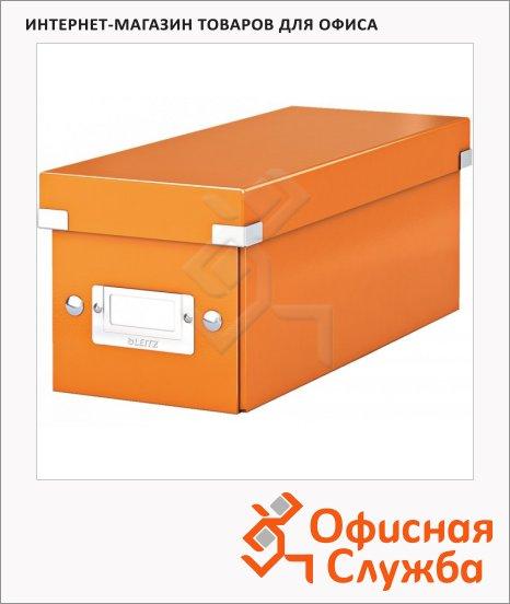 фото: Короб для CD/DVD Leitz Click & Store WOW оранжевый глянцевый на 30/60/160 дисков, 60410044