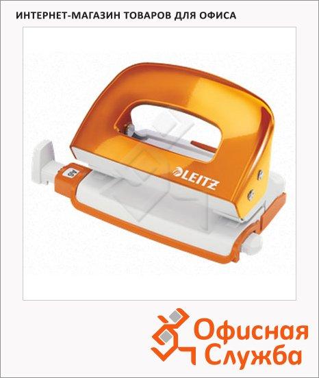 фото: Дырокол Leitz WOW до 10 листов оранжевый