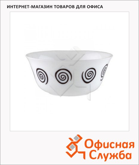 Салатник Luminarc Sirocco белый, d=12см