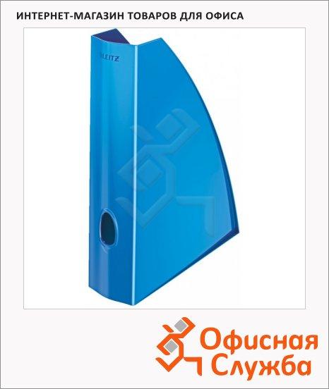 фото: Накопитель вертикальный для бумаг Leitz Wow А4 75мм, синий, 52771036