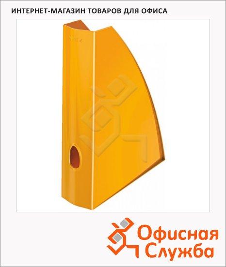 Накопитель вертикальный для бумаг Leitz Wow А4, 75мм, оранжевый, 52771044