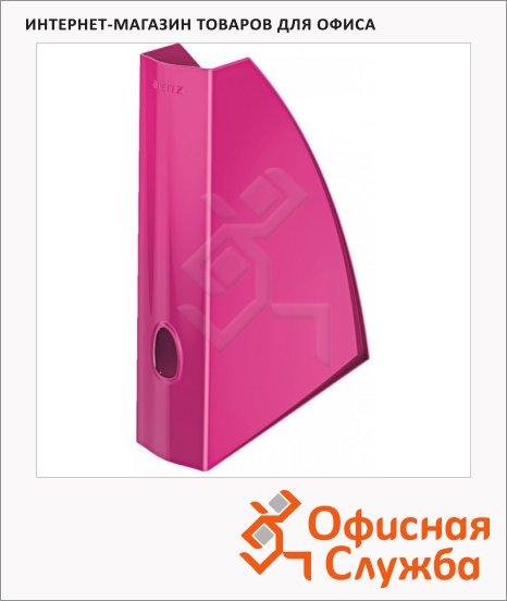 Накопитель вертикальный для бумаг Leitz Wow А4, 75мм, розовый, 52771023