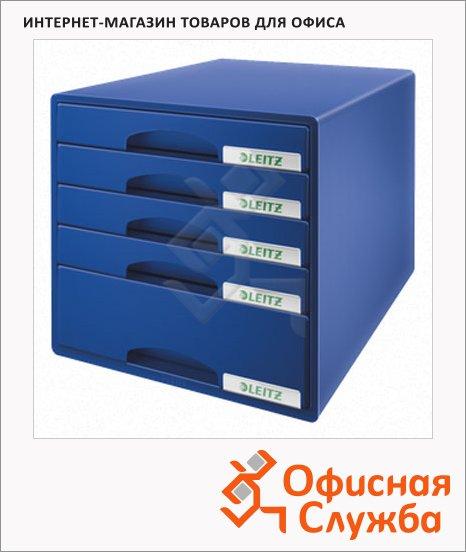 Бокс для бумаг Leitz Plus 287x270x363мм, 5 ящиков, синий, 52110035