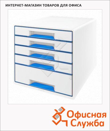 фото: Бокс для бумаг Wow 287x270x363мм бело-синий, 52141036