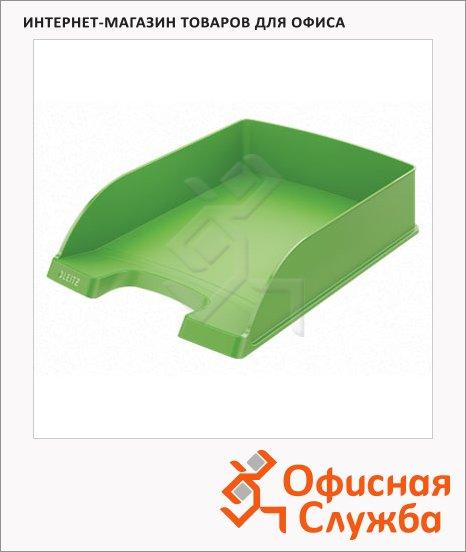 Лоток горизонтальный для бумаг Leitz Plus Standard A4, зеленый, 52272050
