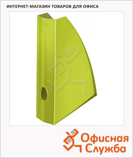 фото: Накопитель вертикальный для бумаг Leitz Wow А4 75мм, зеленый, 52771064