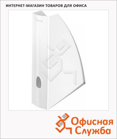 фото: Накопитель вертикальный для бумаг Leitz Wow А4 75мм, белый, 52771001