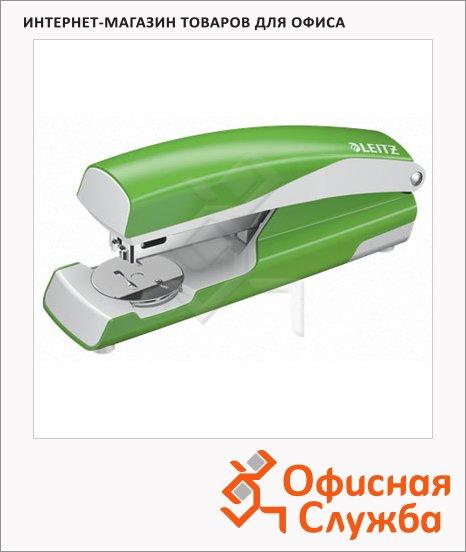 Степлер Leitz NeXXt №24/6, 26/6, до 30 листов, + 200 скоб, светло-зеленый металлик