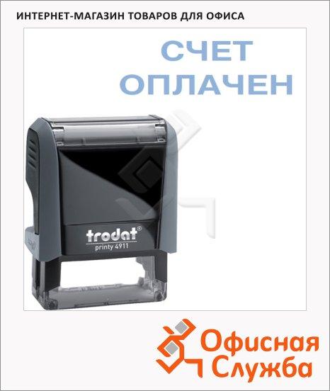 Штамп стандартных слов Trodat Printy СЧЕТ ОПЛАЧЕН, 38х14мм, серый, 4911
