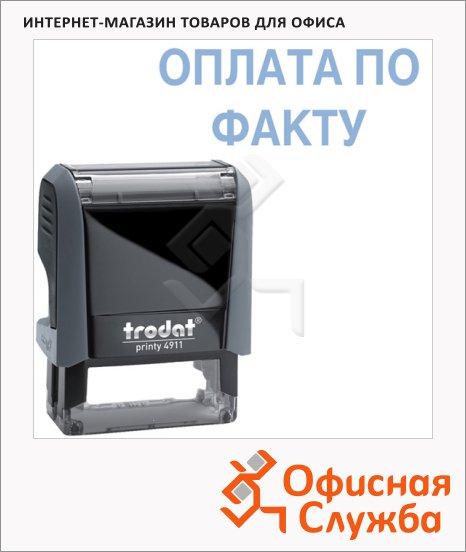 фото: Штамп стандартных слов Trodat Printy ОПЛАТА ПО ФАКТУ 38х14мм, серый, 4911