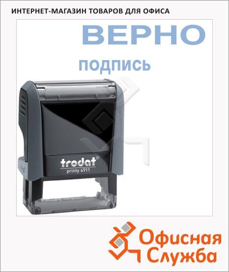 фото: Штамп стандартных слов Trodat Printy ВЕРНО подпись 38х14мм, серый, 4911