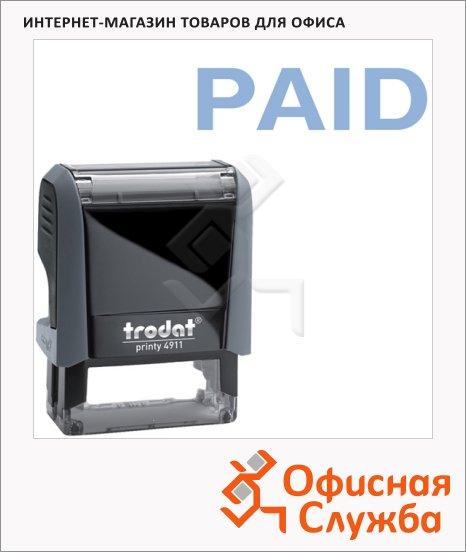 фото: Штамп стандартных слов Trodat Printy PAID 38х14мм, серый, 4911