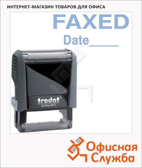 фото: Штамп стандартных слов Trodat Printy FAXED Date 38х14мм, серый, 4911