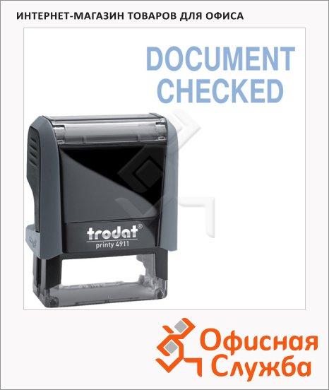 Штамп стандартных слов Trodat Printy DOCUMENT CHECKED, 38х14мм, серый, 4911