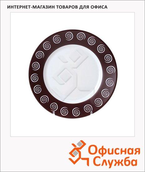 Тарелка десертная Luminarc Sirocco коричневая, d=19.5см