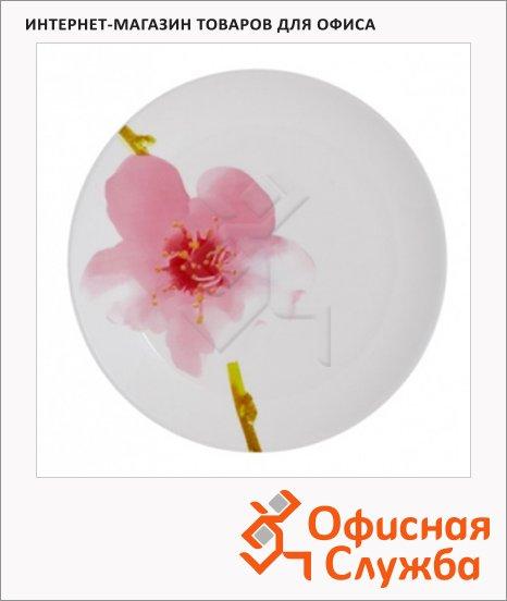 Тарелка обеденная Luminarc Water Color белая с узором, d=25см