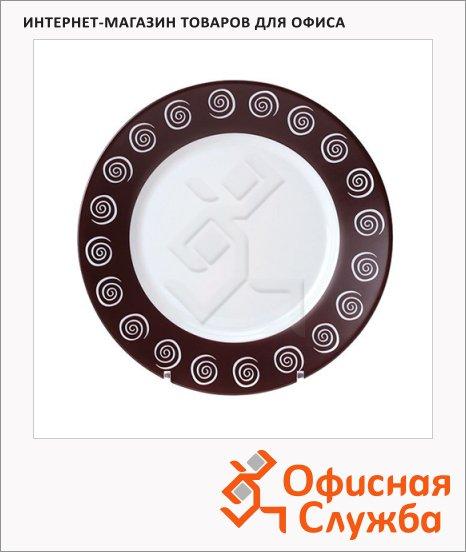фото: Тарелка глубокая Sirocco коричневая d=25см
