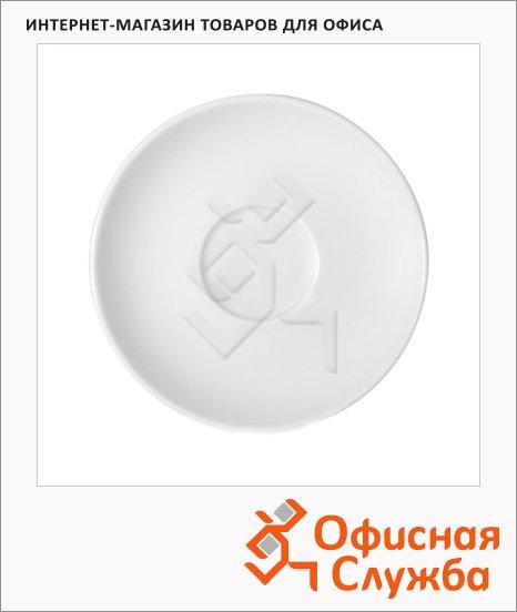 Блюдце Kaszub-Hel белая, d=16см