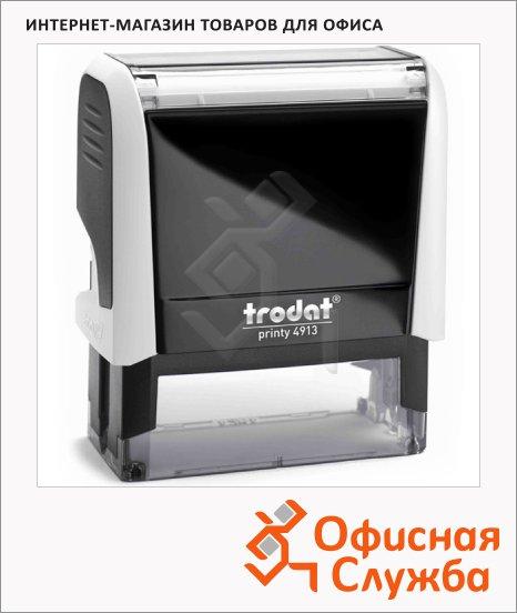 фото: Оснастка для прямоугольной печати Trodat Printy 58х22мм 4913, белая-черная