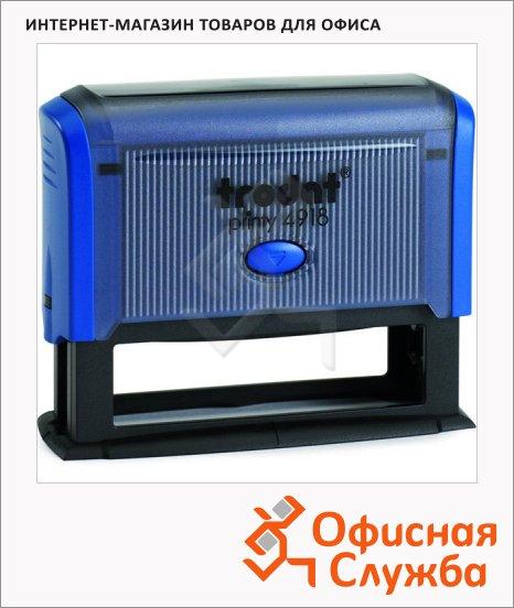 Оснастка для прямоугольной печати Trodat Printy 75х15мм, 4918, синяя