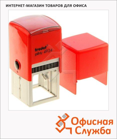 фото: Оснастка для квадратной печати Trodat Printy 40х40мм с крышкой, 4924, красная