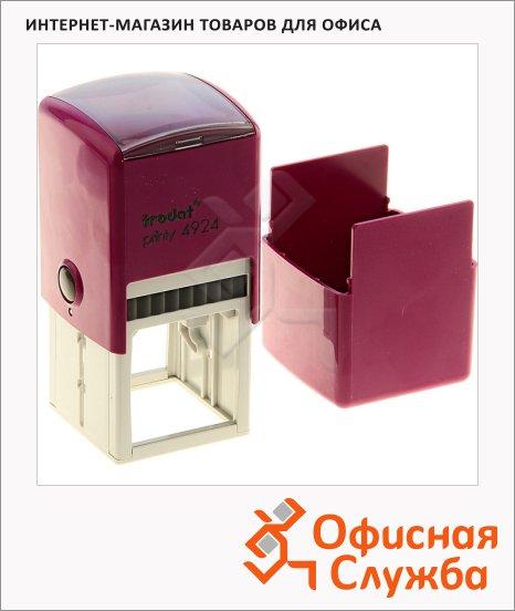 фото: Оснастка для квадратной печати Trodat Printy 40х40мм с крышкой, 4924, фиолетовая
