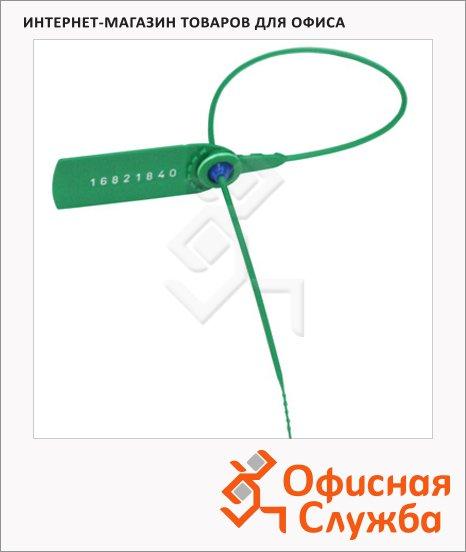 Пломбы пластиковые номерные зеленые, 1000шт, 330мм