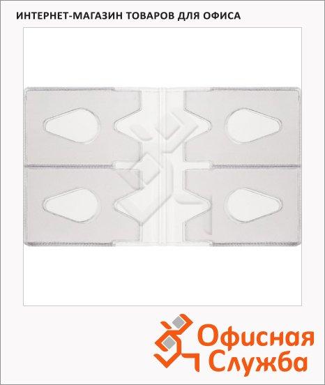 Блок карманов для визитниц на 36 визиток, прозрачный