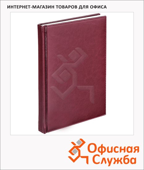 Телефонная книга Agenda А5, 120л, кожзам, бордовая