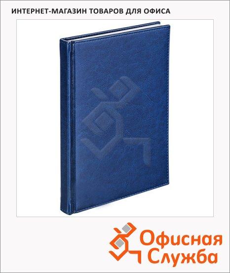 фото: Телефонная книга А6 48 листов, кожзам, синяя