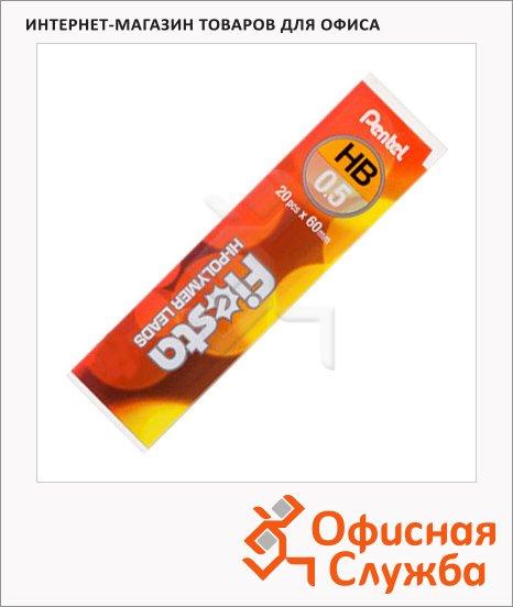 Грифели для механических карандашей Pentel C235TF HB, 0.5мм, 20шт