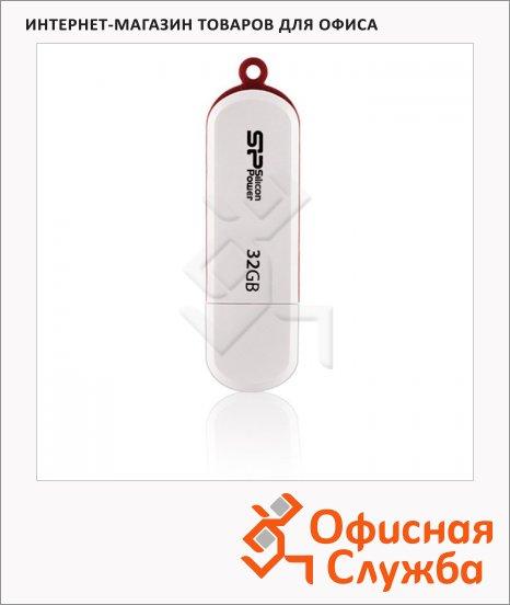 Флеш-накопитель Silicon Power Luxmini 320/322 32Gb, 15/15 мб/с, белый
