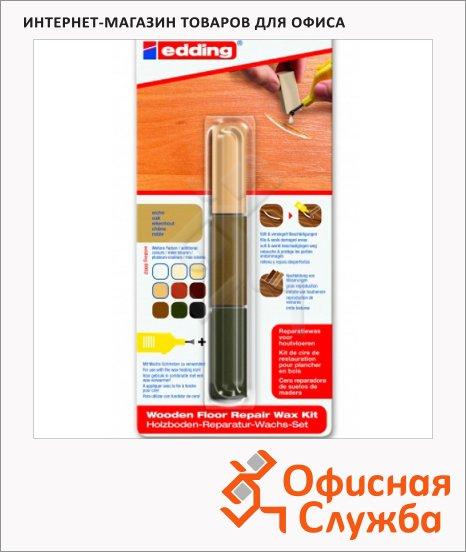 Мелок для мебели Edding 8902 орех, 3 цвета, для маскировки трещин на деревянных поверхностях