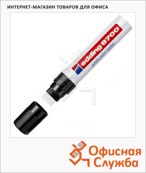 Маркер промышленный лаковый Edding 8700 белый, 18мм, универсальный, алюминиевый корпус, скошенный наконечник
