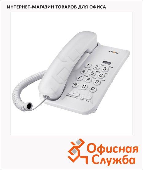 Телефон проводной Texet ТХ-212 светло-серый