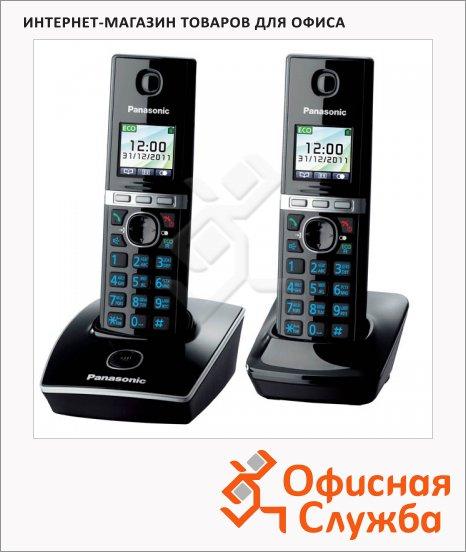 фото: Радиотелефон Panasonic KX-TG8052RUB черный 2 трубки