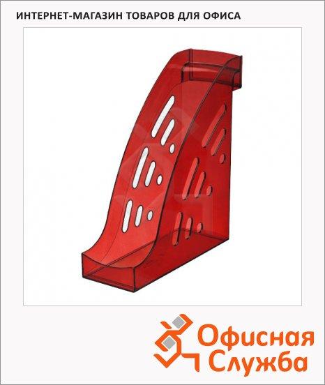 Накопитель вертикальный для бумаг Стамм Торнадо А4, 95мм, вишня, ЛТ407