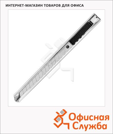 Нож канцелярский Особо прочный 9мм, металлик