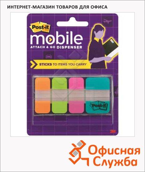 Клейкие закладки пластиковые Post-It Study 4 цвета, 25х38мм, 40шт, 686-OLTA-OTG