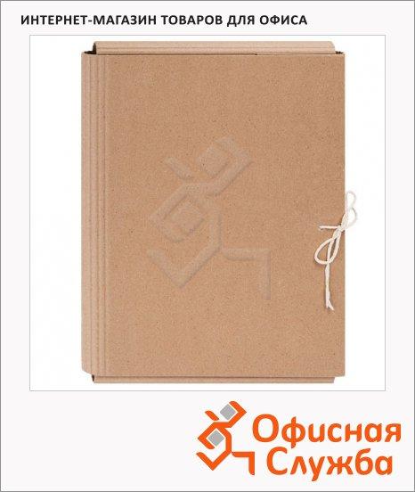 фото: Картонная папка на завязках бежевая А4, до 300 листов
