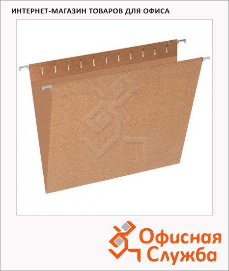 Папка подвесная стандартная А4 Эконом коричневая, 10 шт/уп
